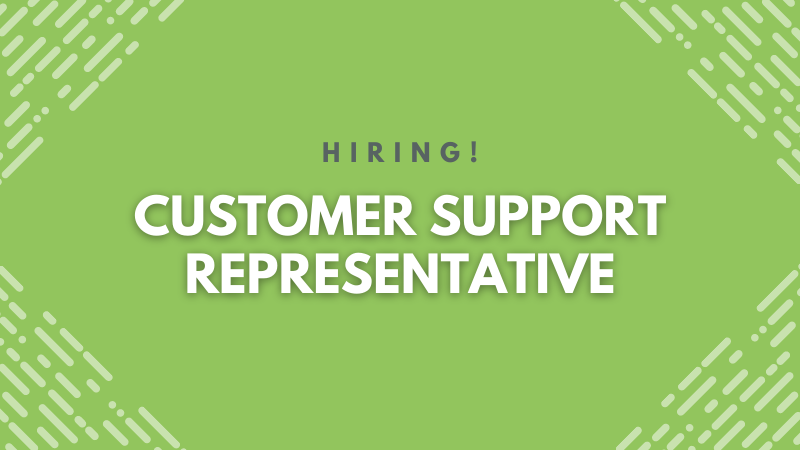 Hiring. Customer Support Representative
